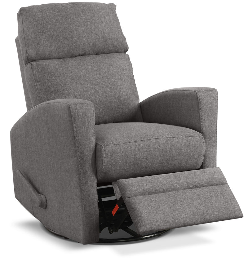 Nina Swivel Glider Recliner - Dark Grey