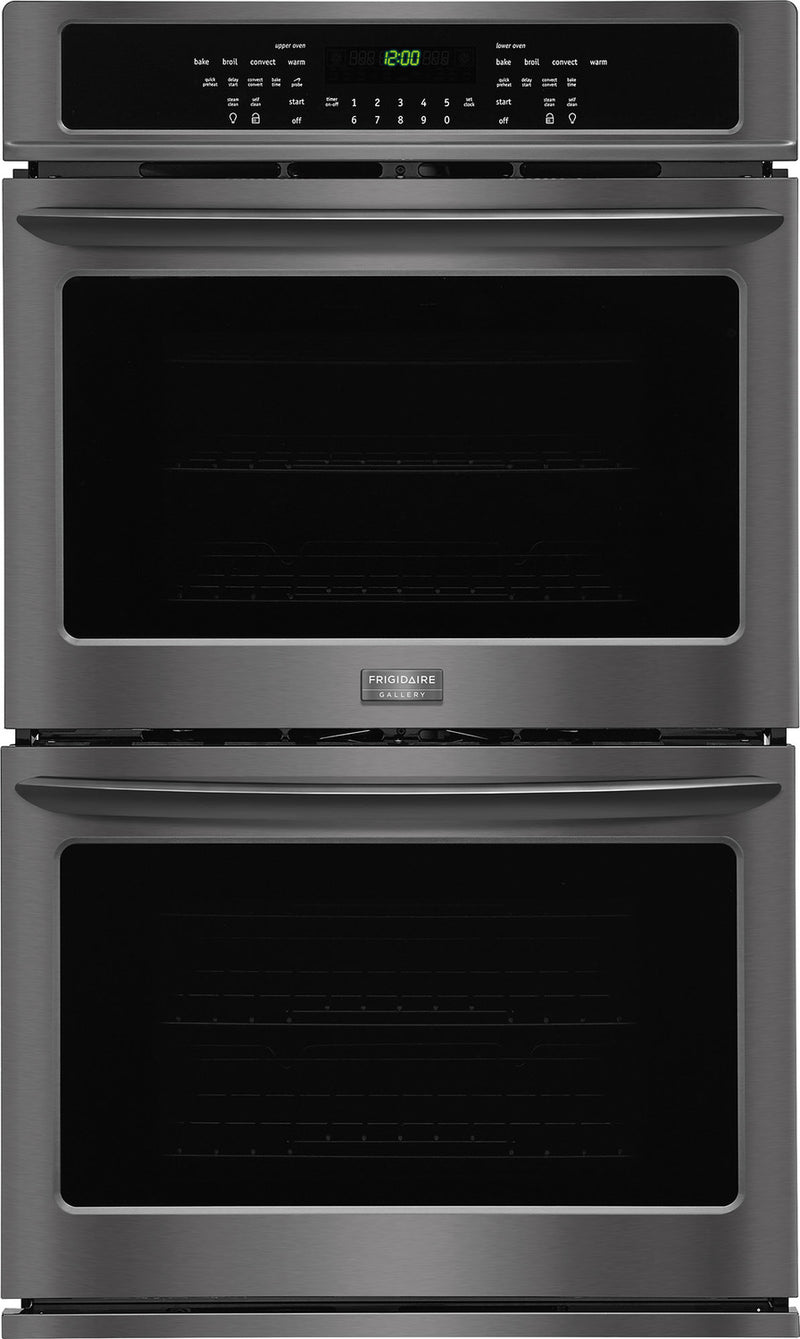 Frigidaire Gallery Black Stainless Steel True Convection Double Wall Oven (9.2 Cu. Ft.) - FGET3065PD