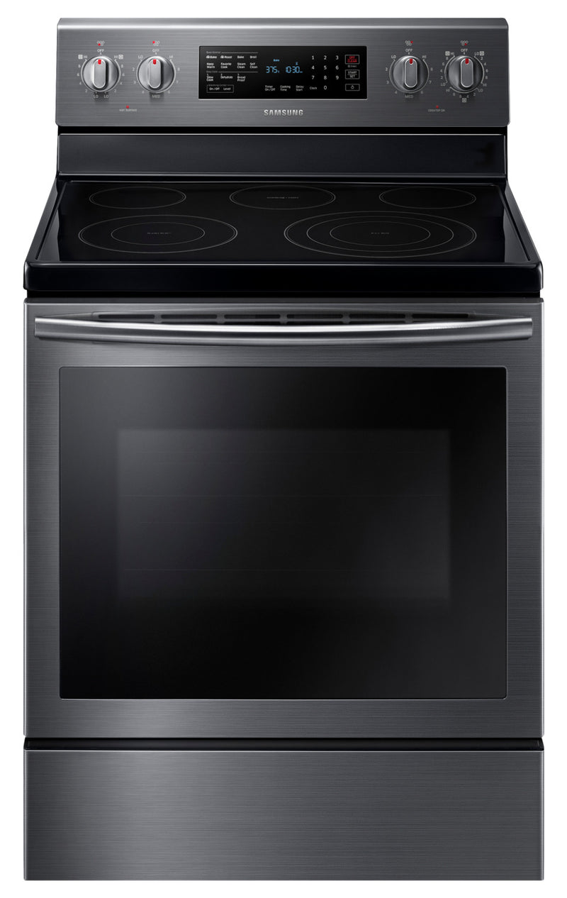 Samsung Black Stainless Steel Electric True Convection Range (5.9 Cu. Ft.) - NE59M7630SG/AC