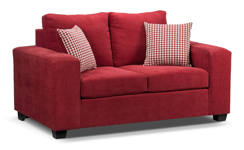 Red Loveseats