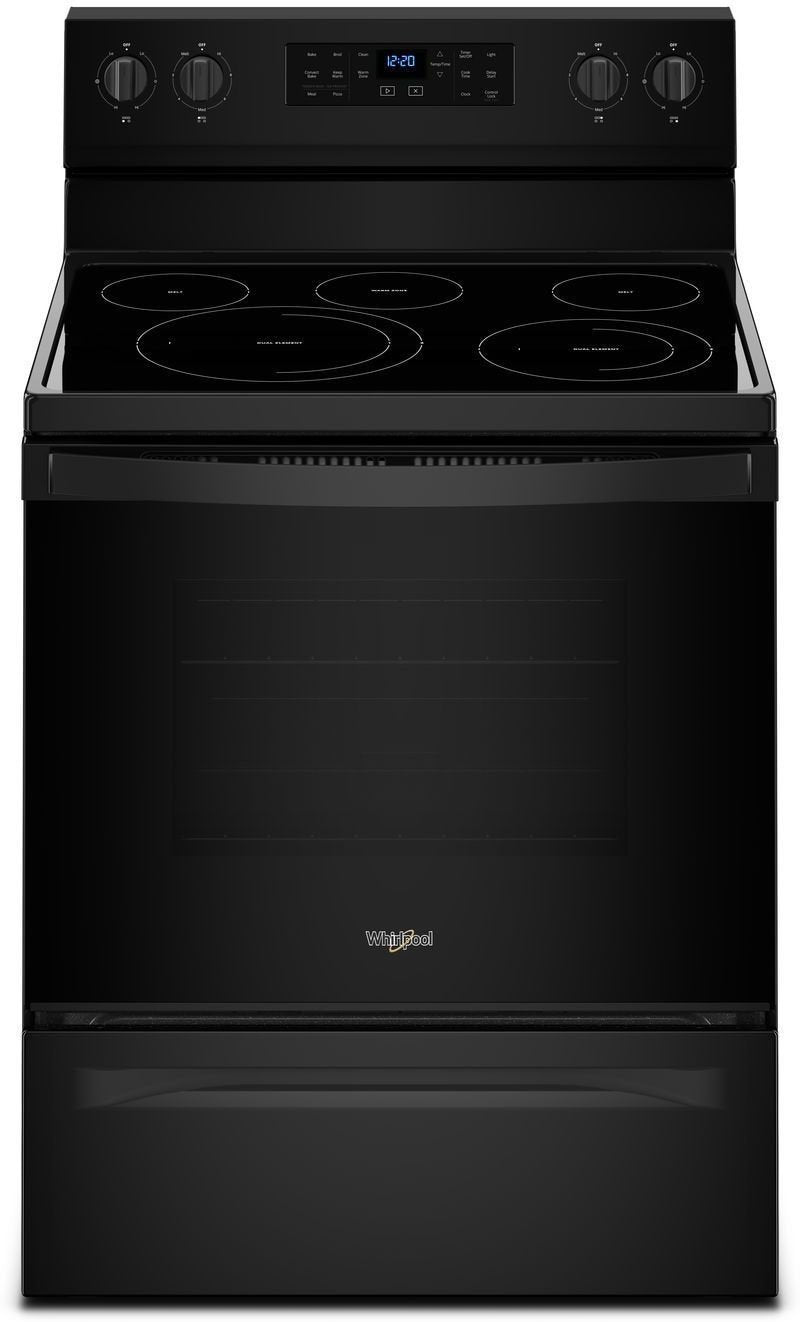 Whirlpool Black Freestanding Electric Convection Range (5.3 Cu. Ft.) - YWFE550S0HB