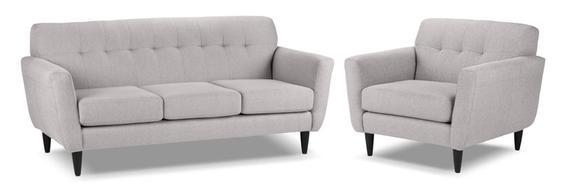 Cobra Sofa and Chair and a Half Set - Grey