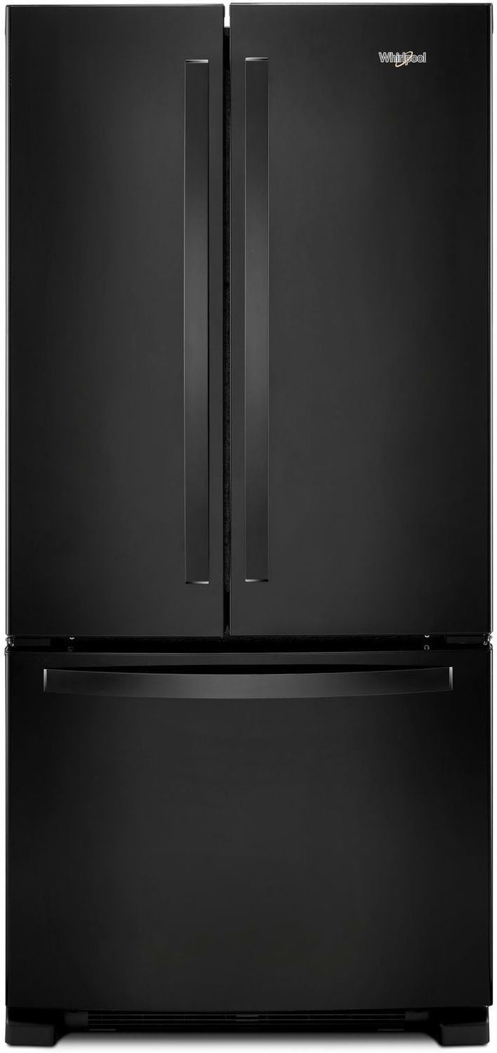 Whirlpool Black Freestanding French Door Refrigerator (22 Cu. Ft.) - WRF532SMHB