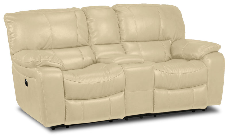 Santorini Power Reclining Loveseat with Console - Dove
