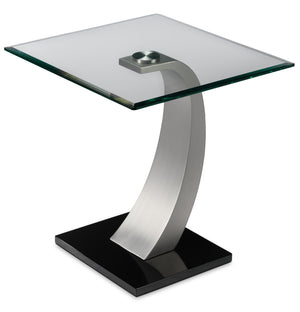 Cassatt End Table - Chrome and Black