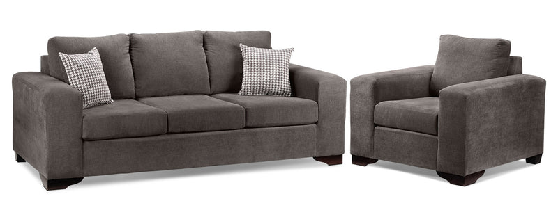 Fava 2 Pc. Living Room Package W/ Chair - Grey