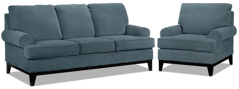 Crizia Sofa and Chair Set - Navy