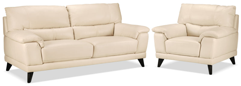 Braylon Sofa and Chair Set - Bisque