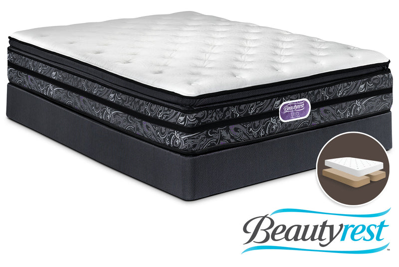 Simmons Beautyrest Ultra Trenton Plush Queen Mattress and Split Boxspring Set