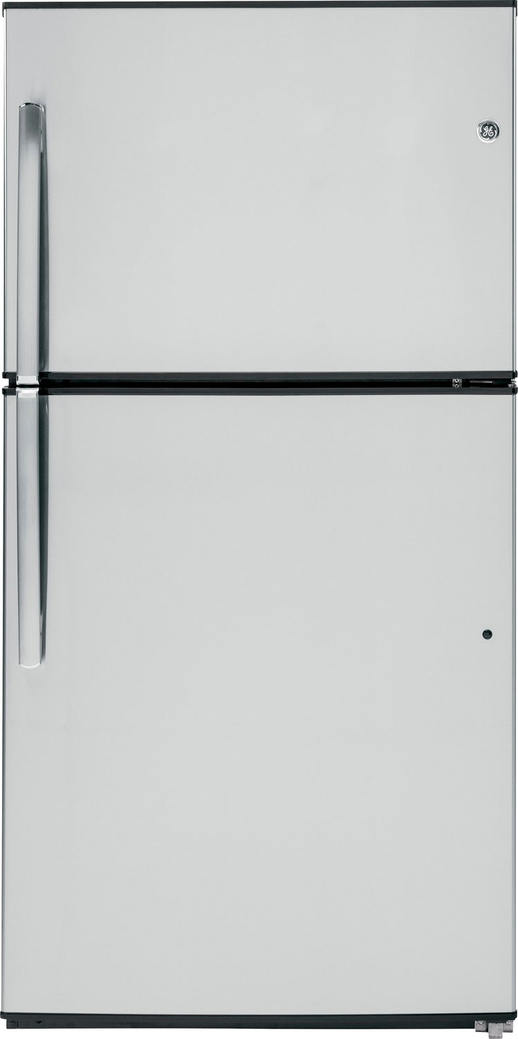 GE Stainless Steel TOP-FREEZER REFRIGERATOR (21.2 CU. FT.) - GTE21GSHSS