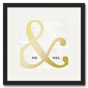 "Mr. & Mrs. Framed Print (16"" X 20"")"
