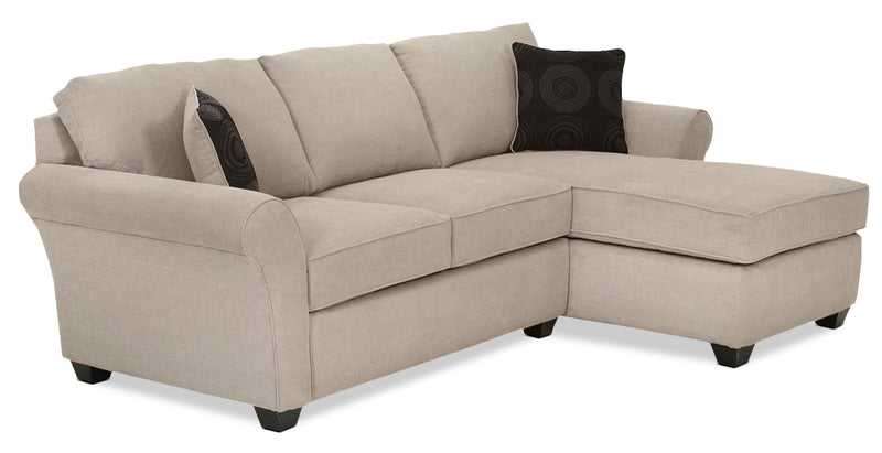 Althea 2-Piece Sectional with Right-Facing Chaise - Mocha