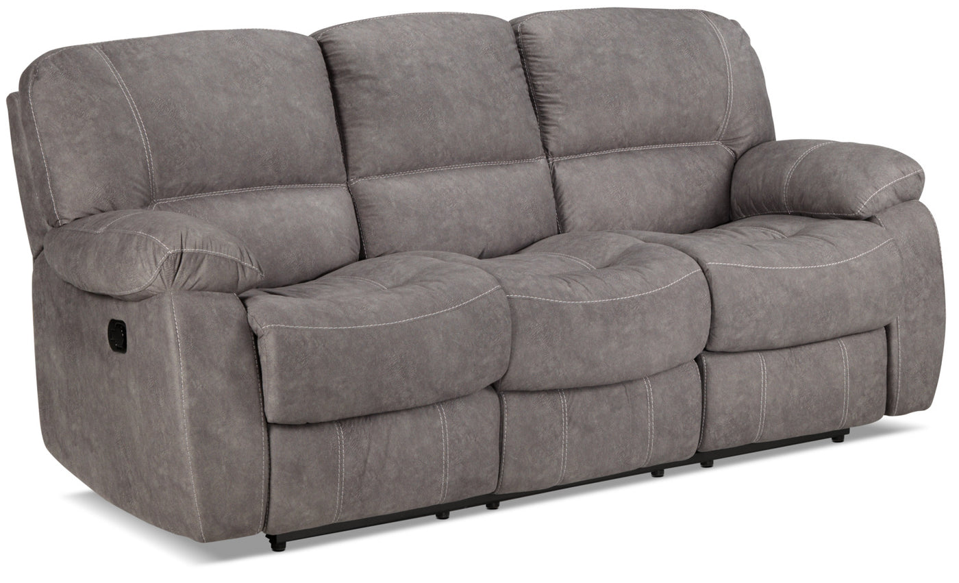 Peyton Reclining Sofa Grey Leon S