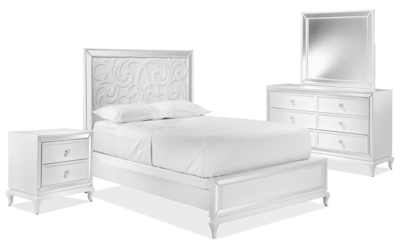 Arctic Ice 5-Piece King Bedroom Set - White
