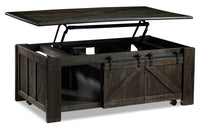 Gable Lift-Top Coffee Table - Weathered Charcoal