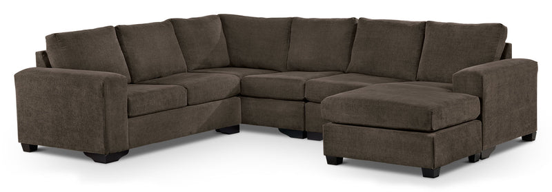 Danielle 3-Piece Sectional with Right-Facing Corner Wedge - Java