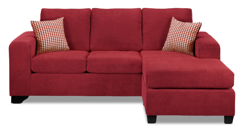 Fava Chaise Sofa - Red