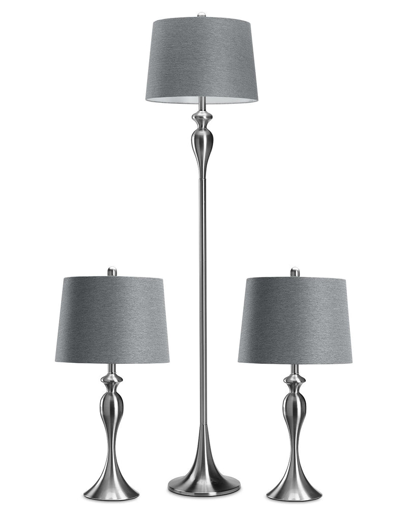 Gwendolyn 3-Pack Lamps - Silver