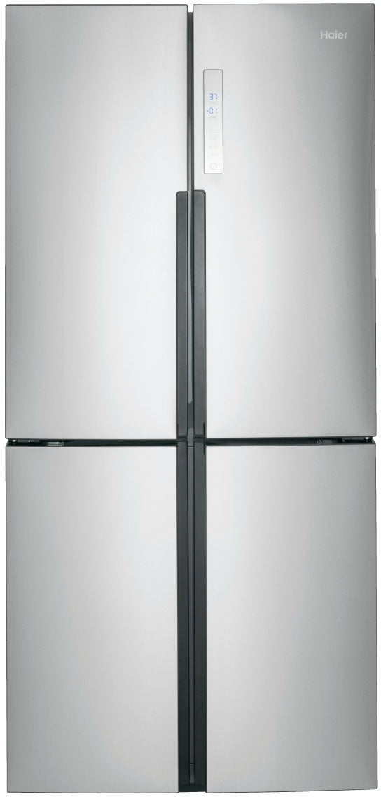 Haier Stainless Steel Counter Depth French Door Refrigerator 16 Cu