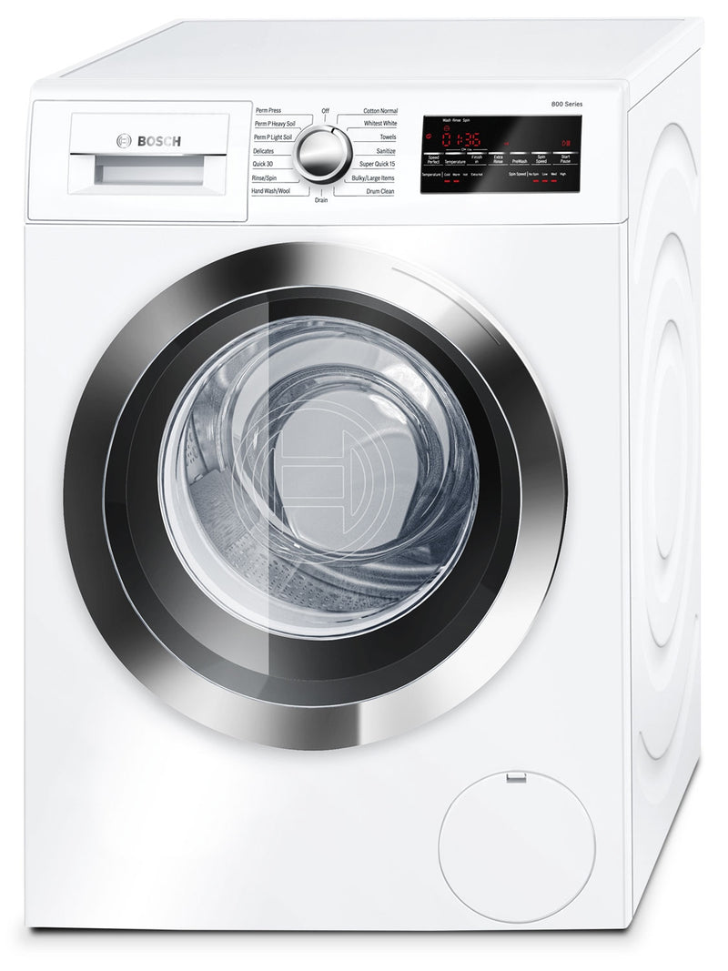Bosch White and Stainless Steel Front-Load Washer (2.2 Cu. Ft.) - WAT28402UC