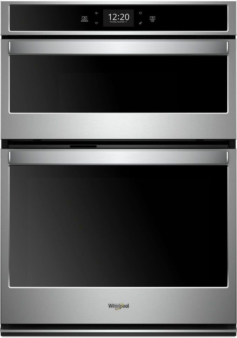 Whirlpool Black-on-Stainless Steel Wall Oven (5 Cu. Ft.) w/ Microwave (1.4 Cu. Ft.) - WOC75EC0HS