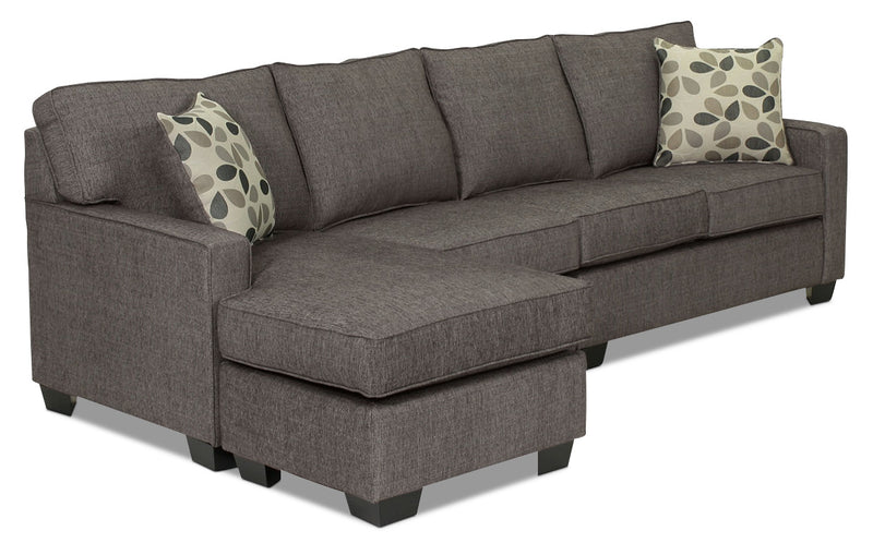 Trinity 2-Piece Sectional with Modular Chaise - Graphite