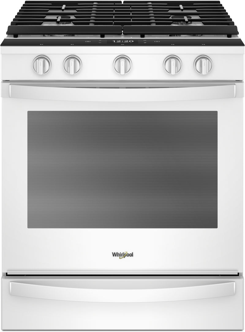 Whirlpool White Slide-In Gas True Convection Range (5.8 Cu. Ft) - WEG750H0HW