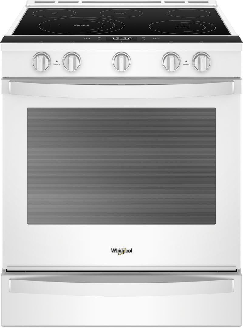 Whirlpool White Slide-In Electric True Convection Range (6.4 Cu. Ft.) - YWEE750H0HW