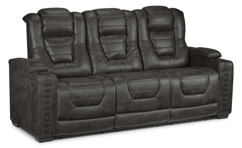 Dakota Power Reclining Sofa - Charcoal