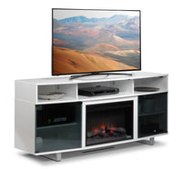 Sorenson Fireplace TV Stand - White