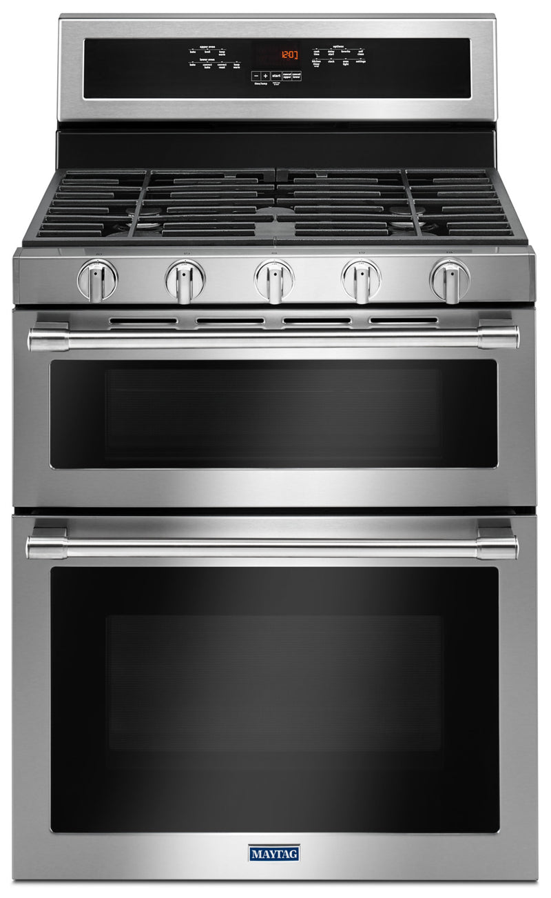 Maytag Stainless Steel Freestanding Gas Double Oven (6.0 Cu. Ft.) - MGT8800FZ