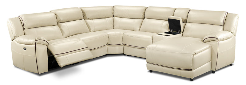 Holton 6-Piece Sectional with Right-Facing Chaise - Pebble