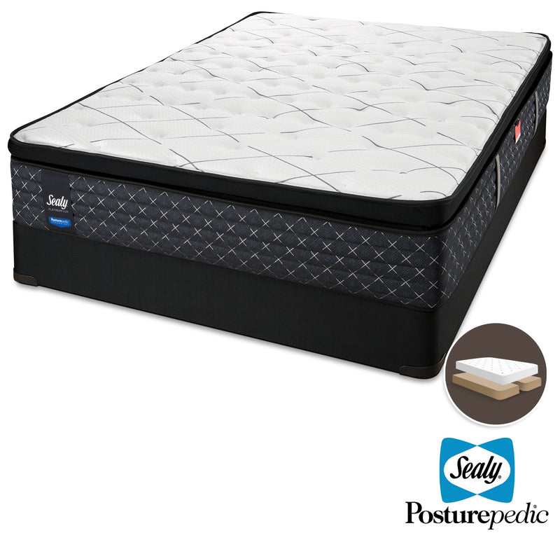 Sealy Pathos Firm King Mattress and Split Boxspring Set