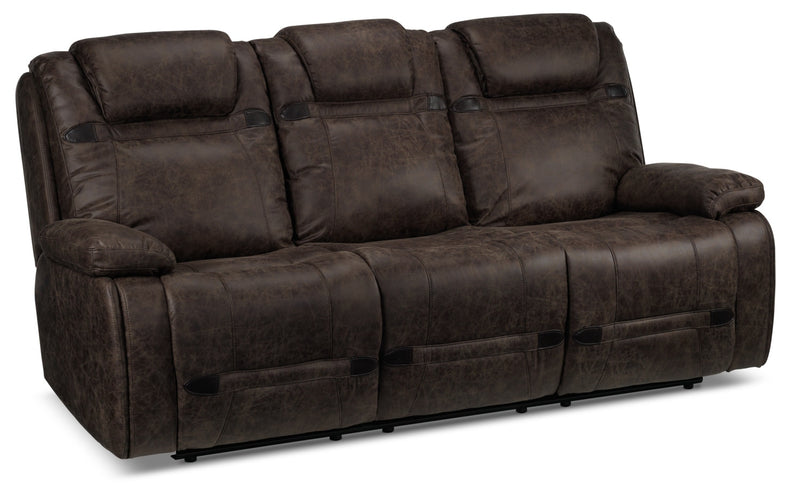 Rebel Power Reclining Sofa with Tablet Control Centre - Brown