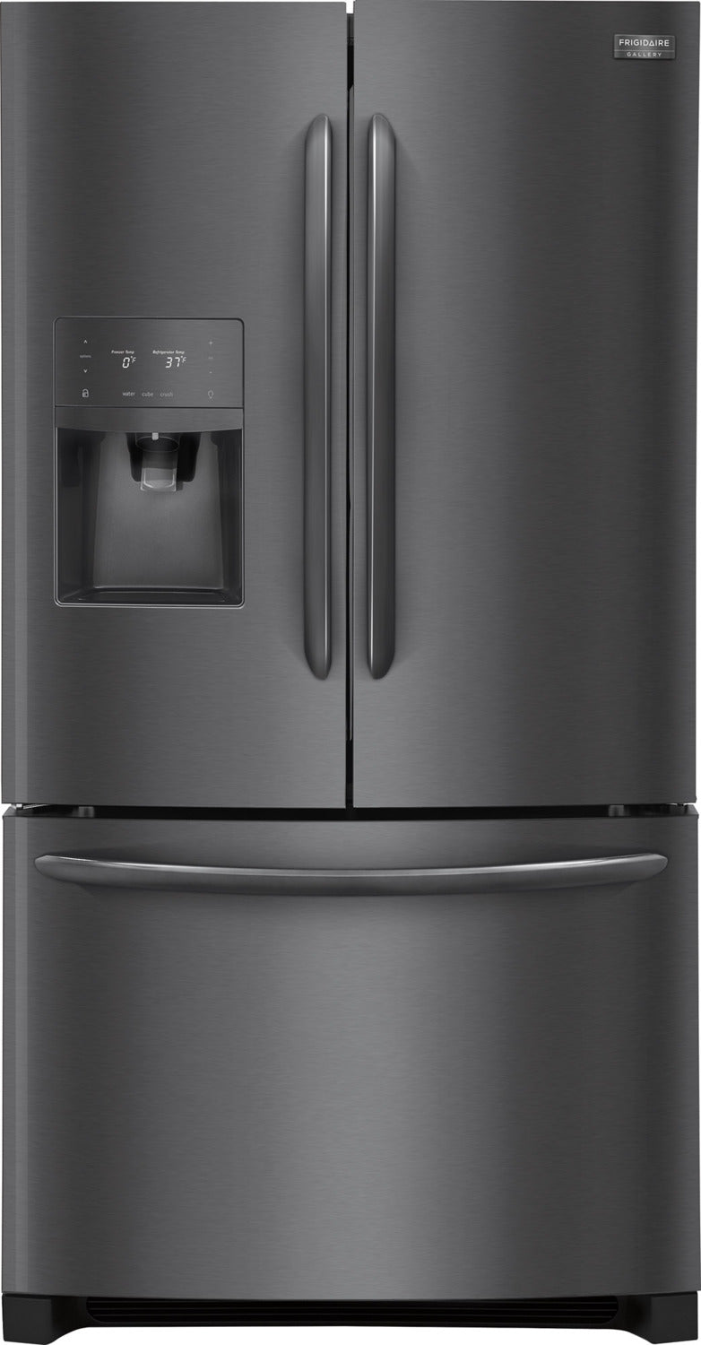 Image of Frigidaire Gallery Black Stainless Steel French Door Refrigerator (26.8 Cu. Ft.) - FGHB2868TD