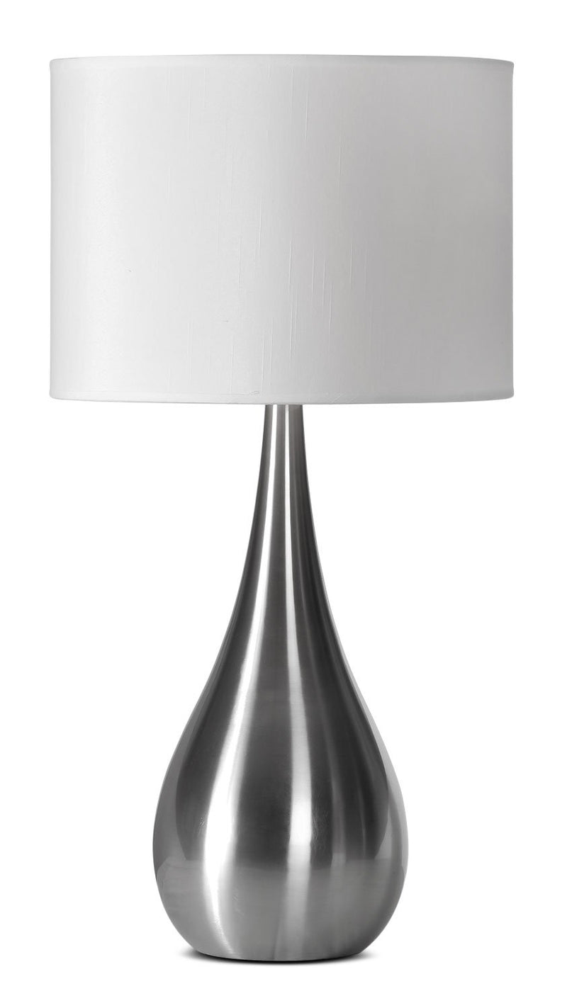 "Aspen 26"" Table Lamp - Stainless Steel"