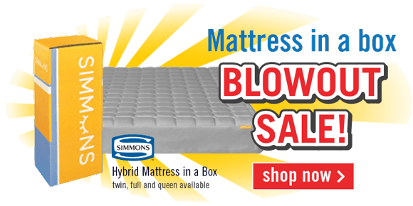 Mattress in a box Blowout