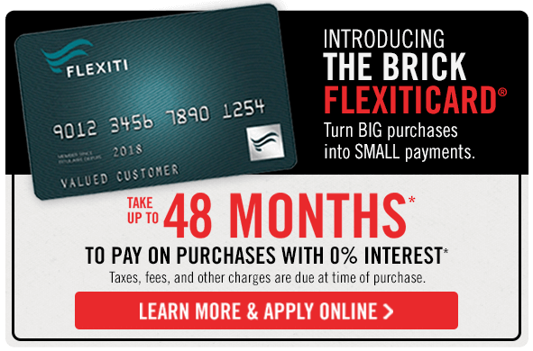 FlexitiCard. Take up to 48 months to pay on purchases with 0% interest.