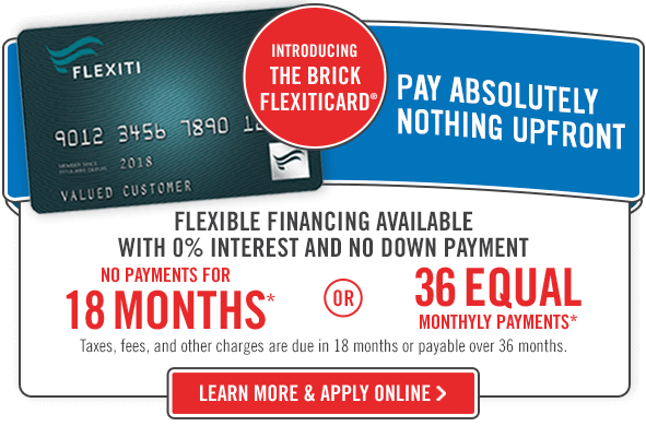 FlexitiCard. No payments for 18 months or 36 equal monthly payments.*