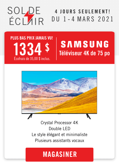 Samsung 75in TV - Lowest Price Ever!