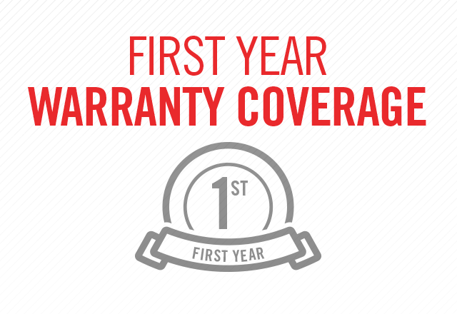first year warranty coverage