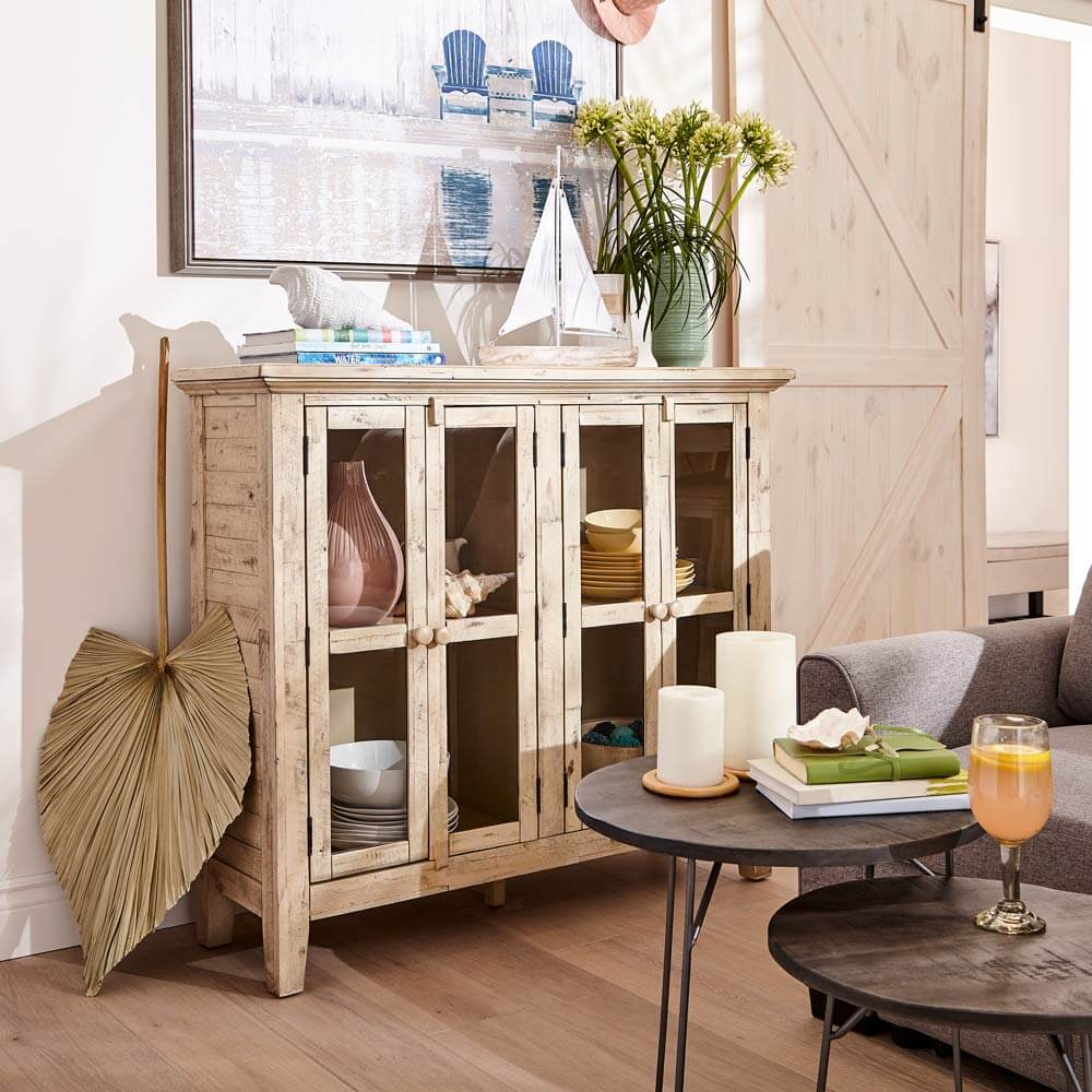 Beach House Bliss accent cabinet.