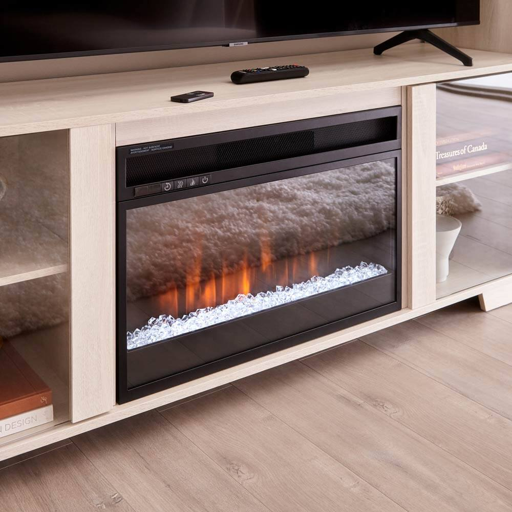 California Cool. Fireplace stands.