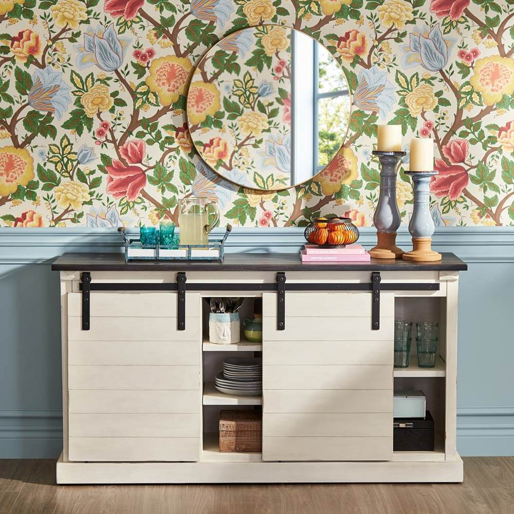 Cottagecore dining room sideboard or cabinet.