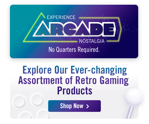 Explore Our Ever-changing Assortment of Retro Gaming Products