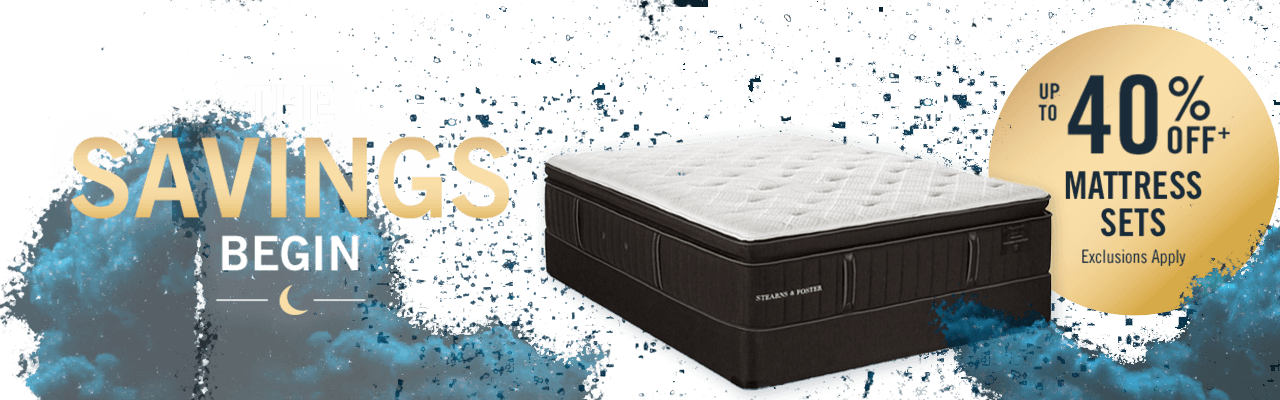 MIdnight Madness. Up to 40% off select mattress sets.