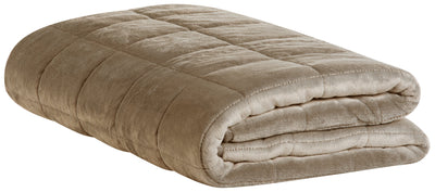 Weighted Sherpa Throw - Taupe | Jeté lesté en sherpa - taupe | 10LBTPTB