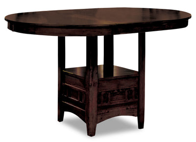 Dalton Chocolate Counter-Height Table|Table de hauteur comptoir Dalton de couleur chocolat|11551-CHT