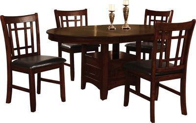 Dalton 5-Piece Chocolate Dining Package - Contemporary style Dining Room Set in Chocolate