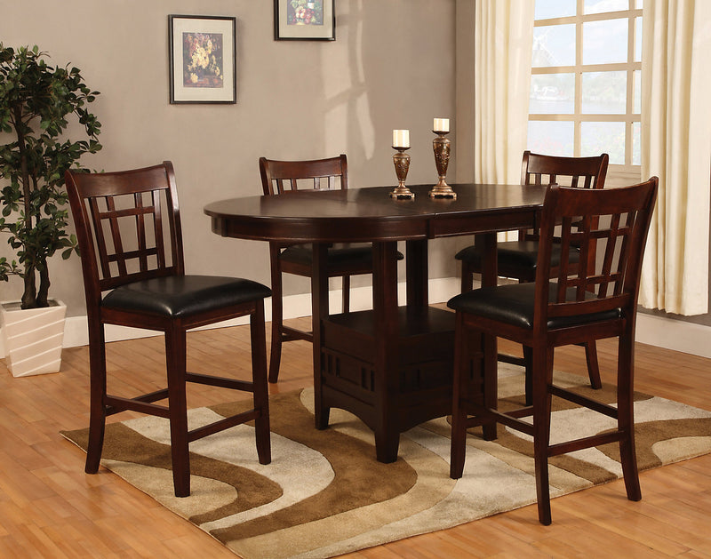 Dalton 5-Piece Chocolate Counter-Height Dining Package